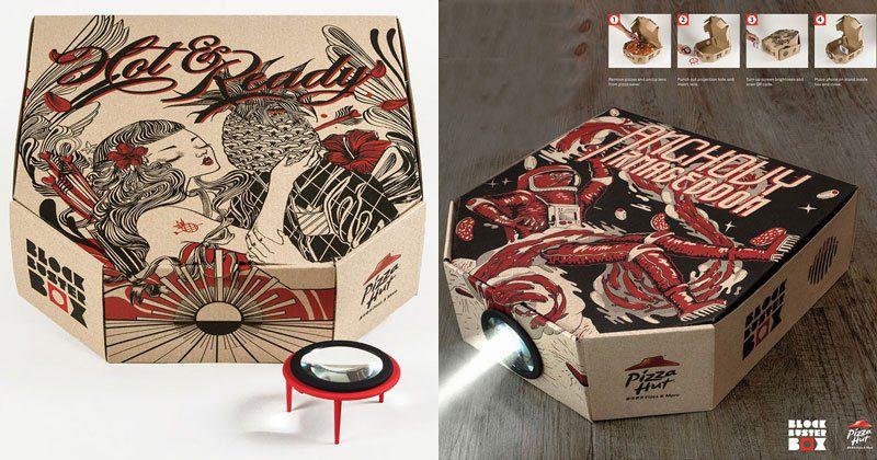 Risultati immagini per Pizza Box Projectors Pizza Hut