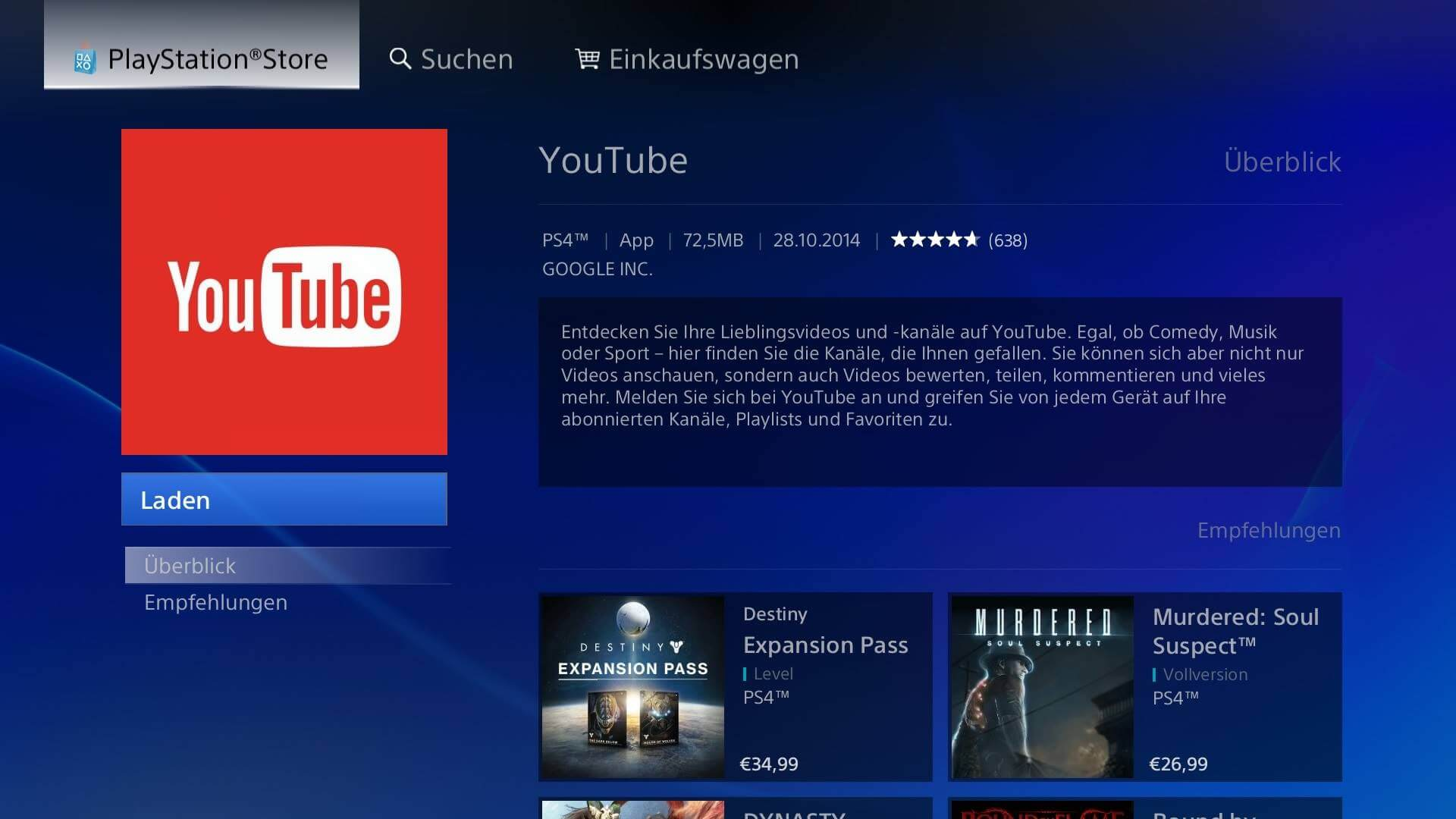 playstation 4 tv apps