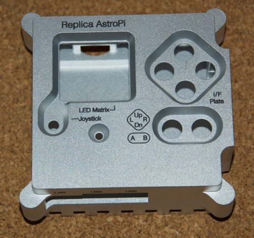 Lasered Astro Pi case replica by Tim Rowledge
