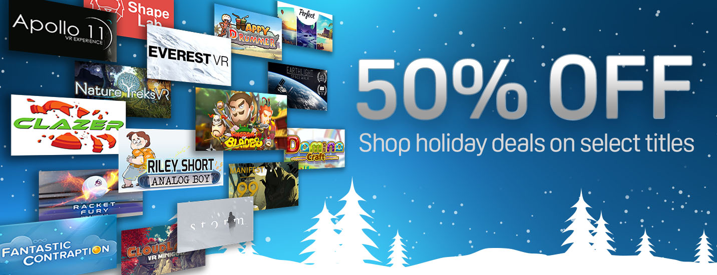 Up to 65% off Viveport titles