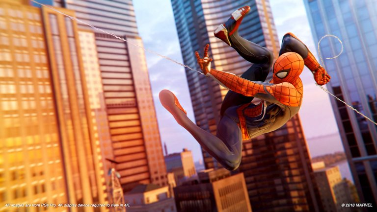 Marvels Spider Man Review spider man ps4 preview swing h 2018
