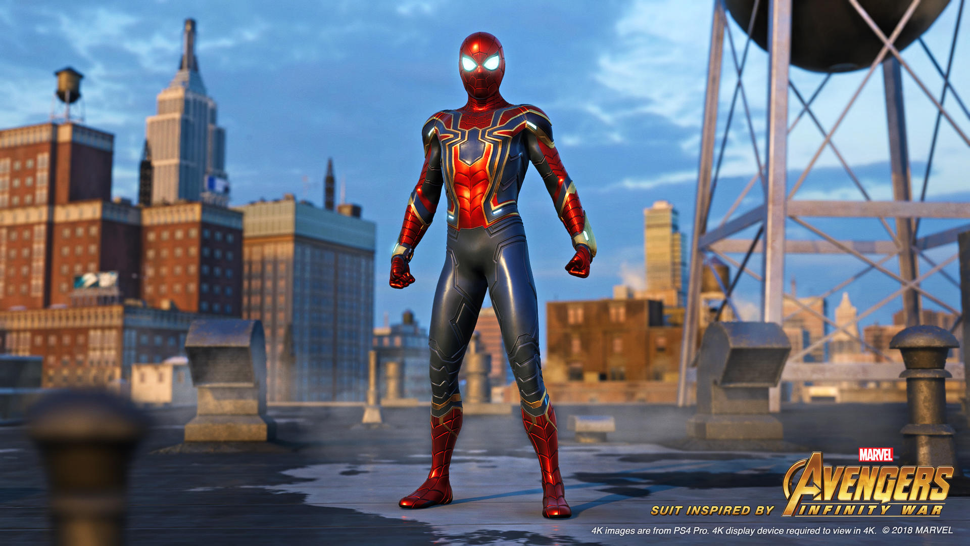 Marvels Spider Man Review 19eab5 Spider Man PS4 Iron Spider Rooftop