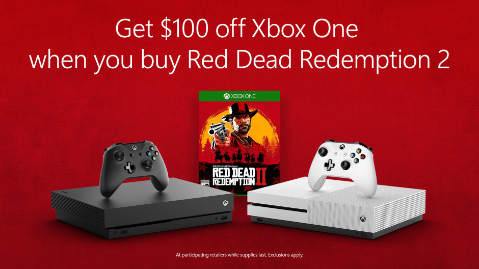 Celebrate the Launch of Red Dead Redemption 2 with $100 off Xbox One