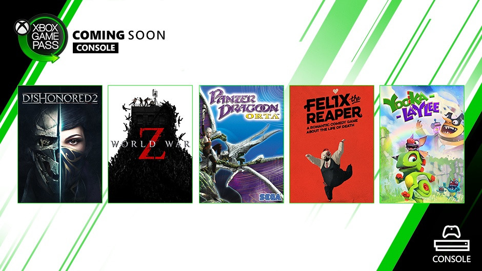 Xbox Game Pass for Console: October Wave 1