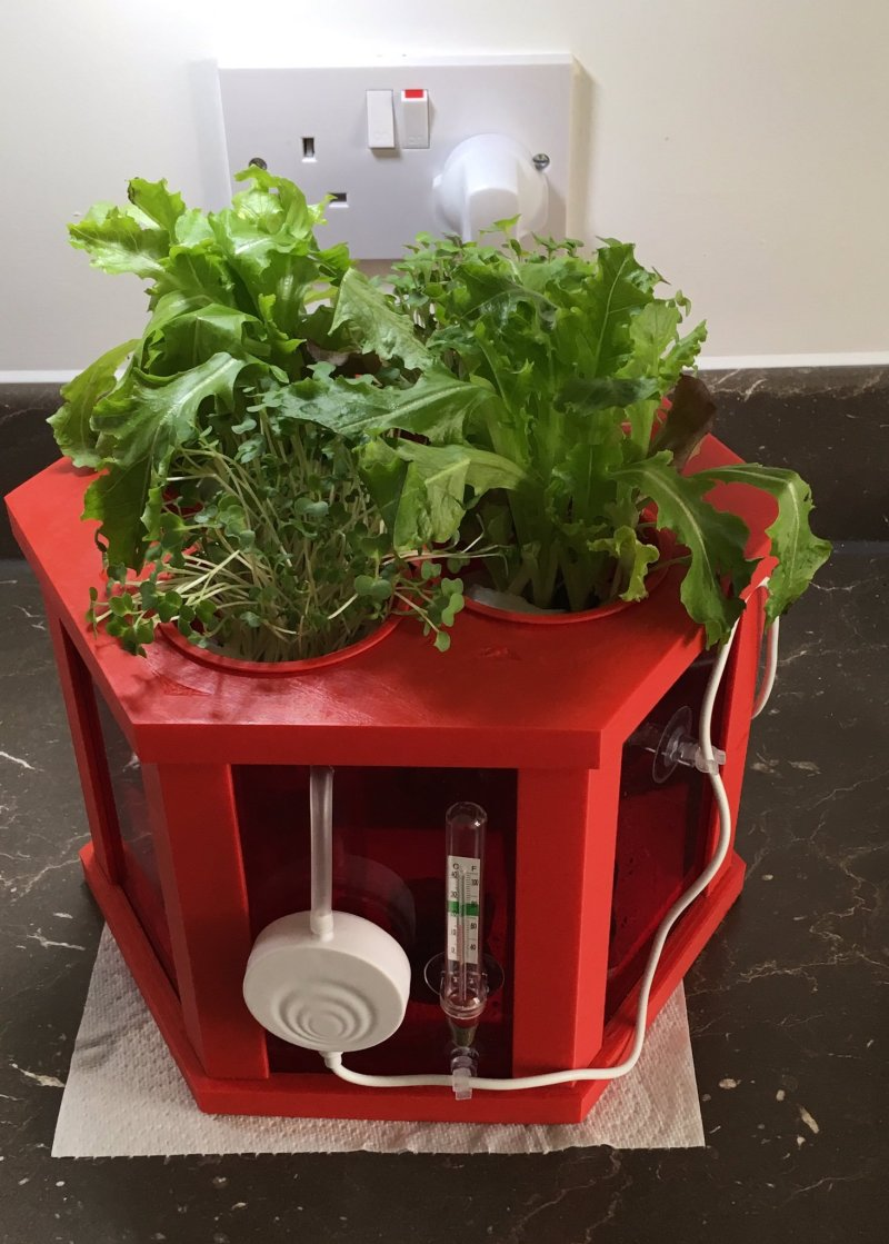 BioHex is a clever hydroponic monitor and plant pot