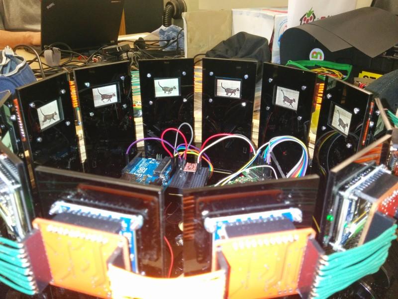 Digital zoetrope passed on Eadward Muybridge's moving image machine