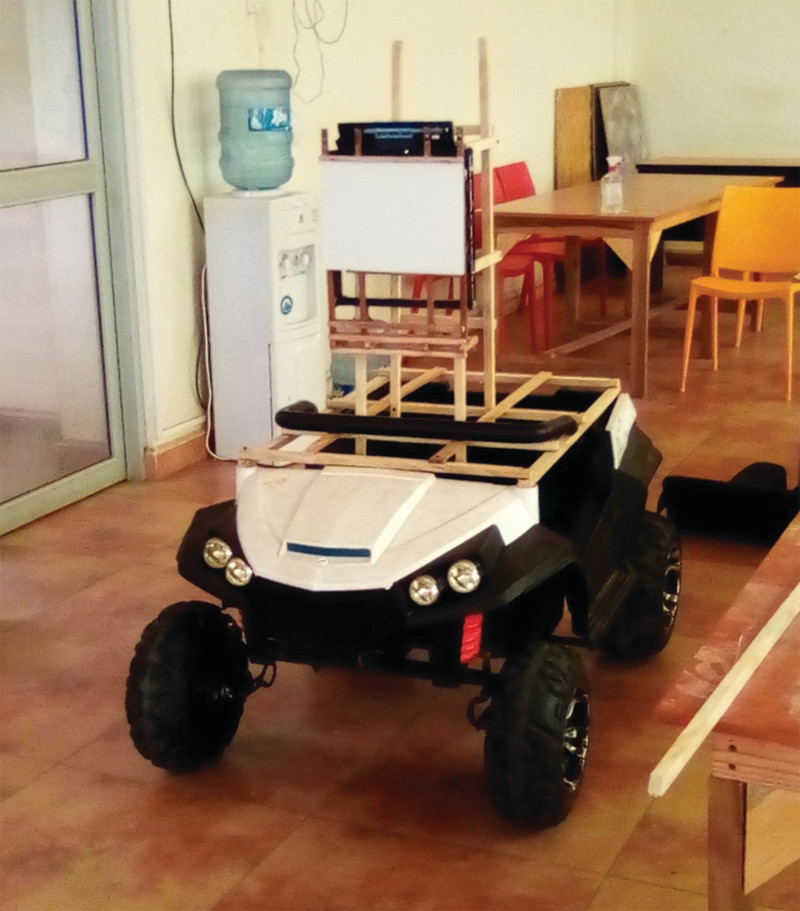 Joseph upcycled an old remote-control car for his robot'sbase