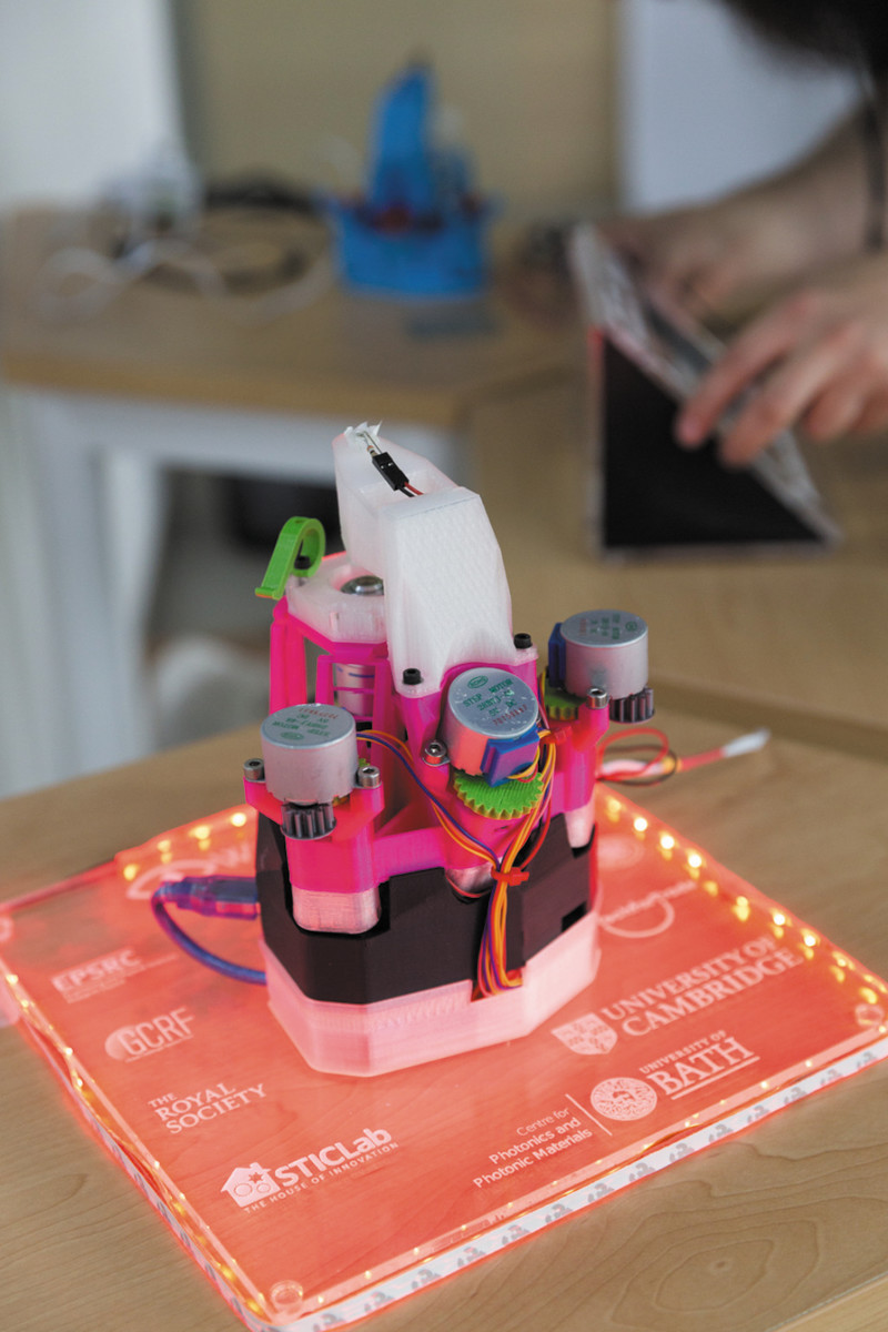 Funding from the Royal Academy of Engineering and the Royal Society is being used to develop educational materials to enable the microscope to be used in schools
