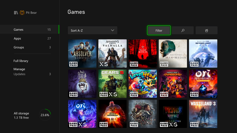 November Xbox Update