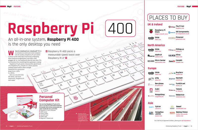 The MagPi magazine #100 is packed with information on Raspberry Pi 400