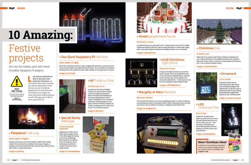 The Top 10 Festival Projects in The MagPi #100
