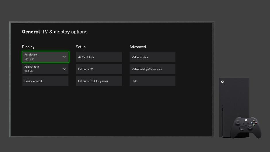 Xbox Series X S TV Settings