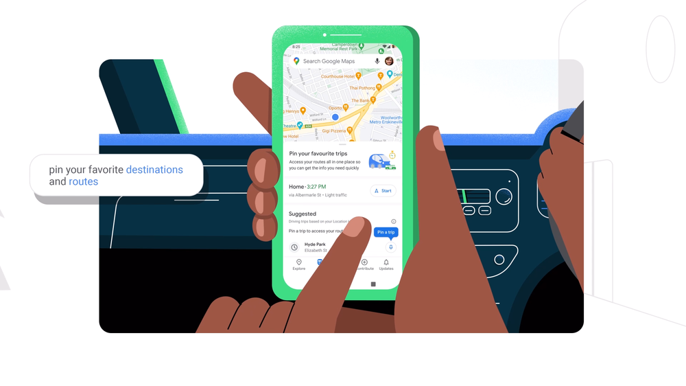New Go Tab in Google Maps is available today