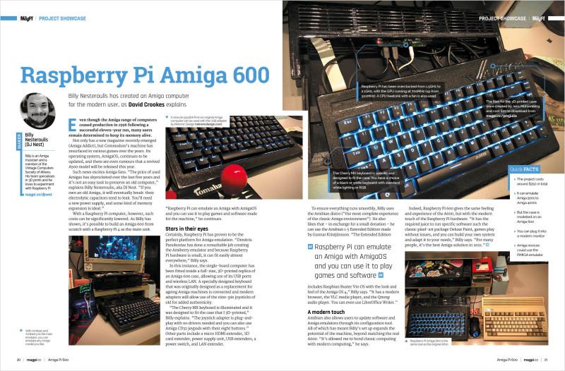 Raspberry Pi Amiga 600