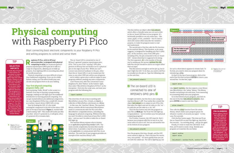 Physical computing Raspberry Pi Pico