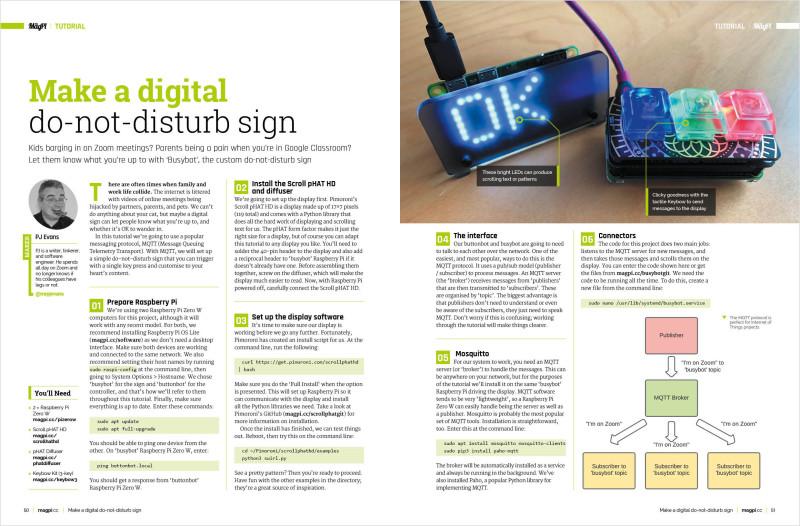 Make a digital do-not-disturb sign
