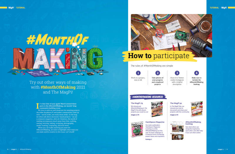 Try out other ways of making with #MonthOfMaking
